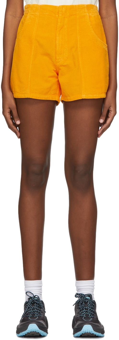 ERL 橙色灯芯绒短裤