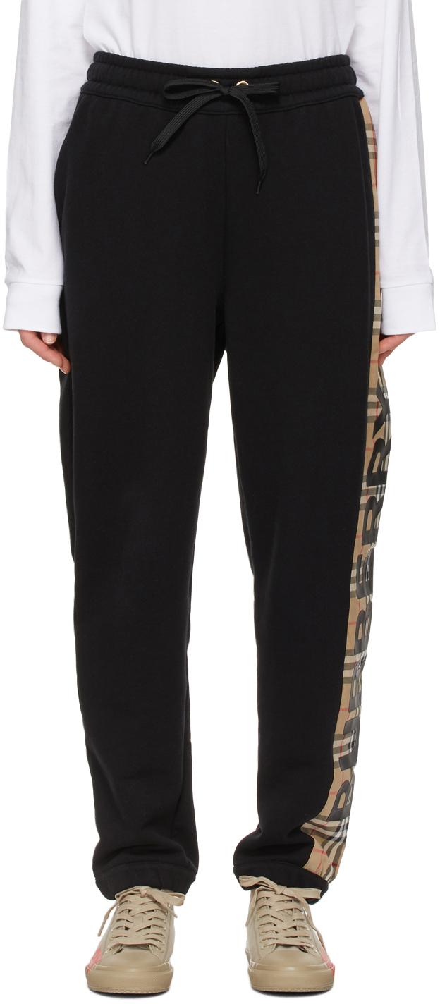 Burberry 黑色 Raine Vintage Check 运动裤