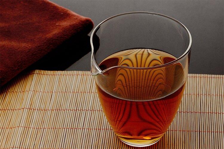 玻璃杯 茶杯玻璃公道杯 玻璃茶具分茶器玻璃杜蘭公杯茶 兩個裝