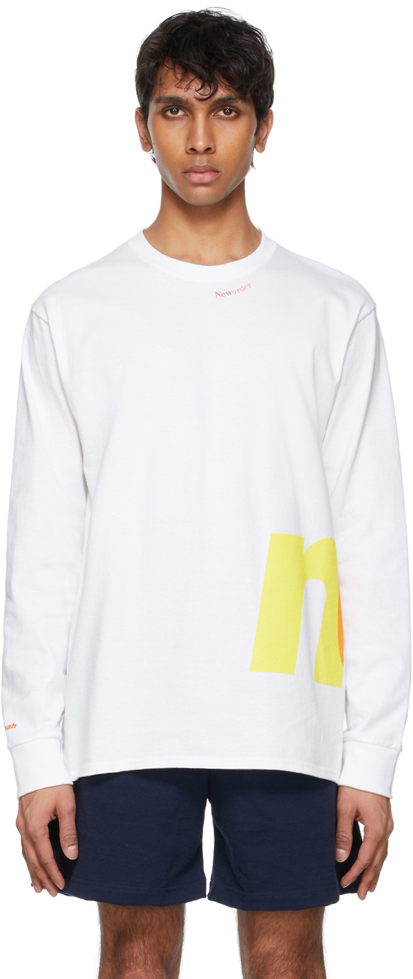 Noah NYC 白色 New Order 联名徽标长袖 T 恤