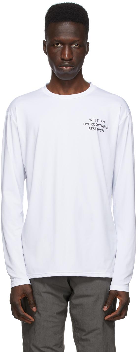 Western Hydrodynamic Research SSENSE 独家发售白色 Sun 长袖 T 恤