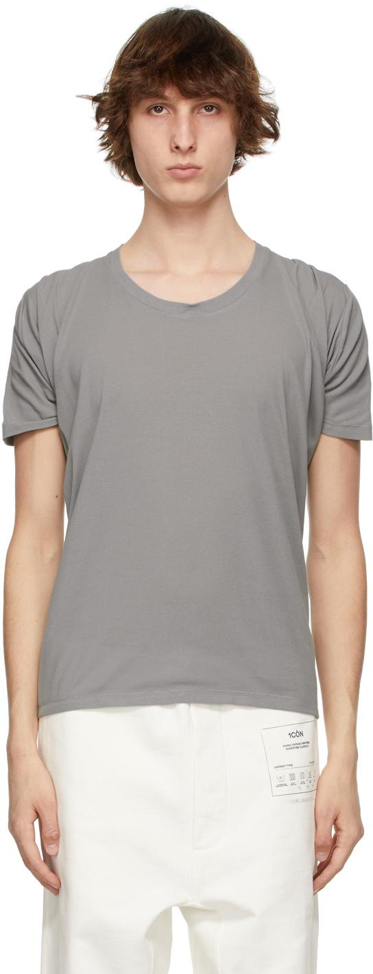 Maison Margiela 灰色 Draped Back T 恤