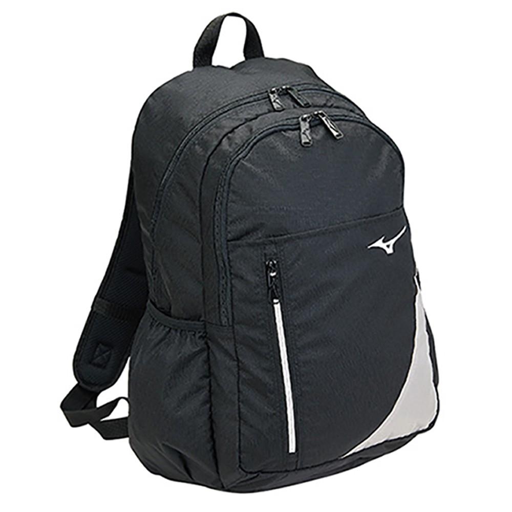 MIZUNO 背包 後背包 休閒 防水 黑【運動世界】B3TD001009