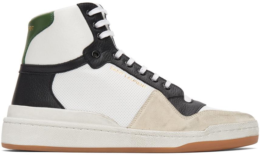 Saint Laurent 多色拼接高帮运动鞋