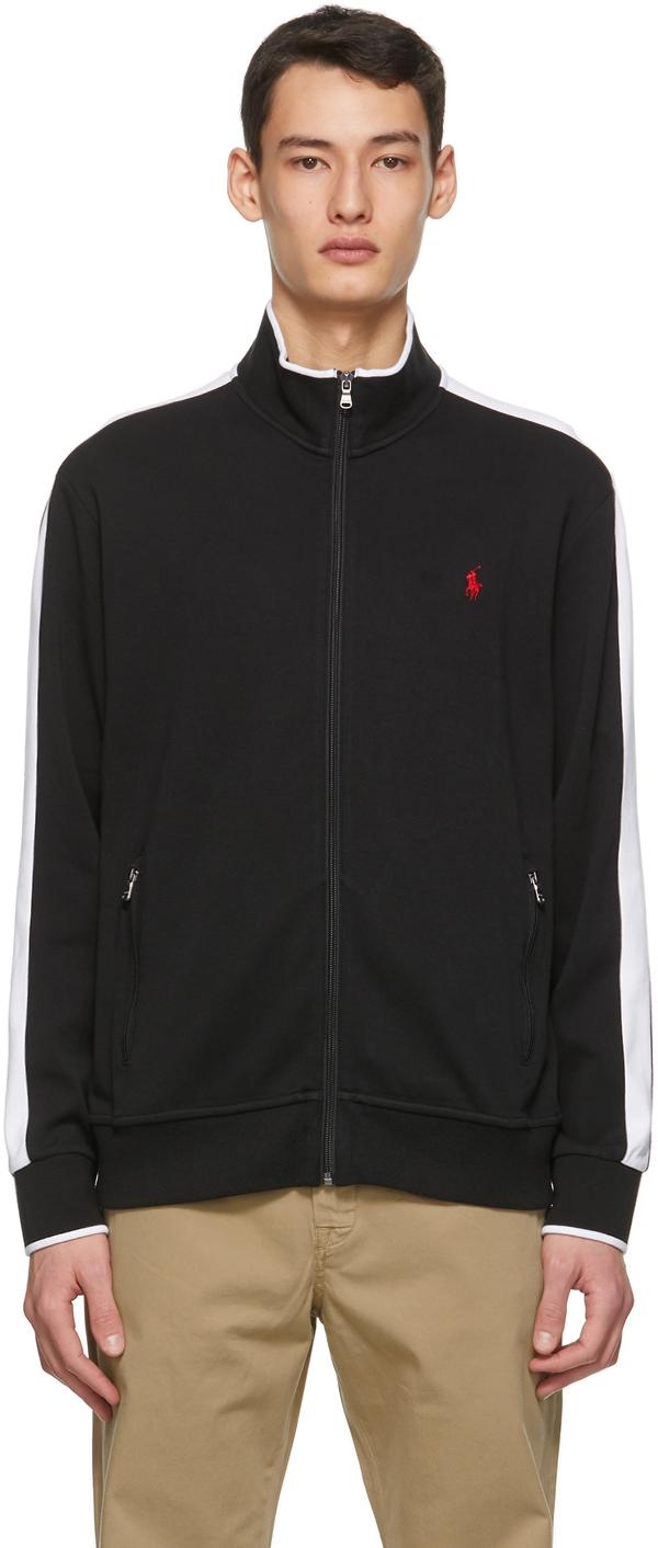 Polo Ralph Lauren 黑色 Interlock 运动夹克