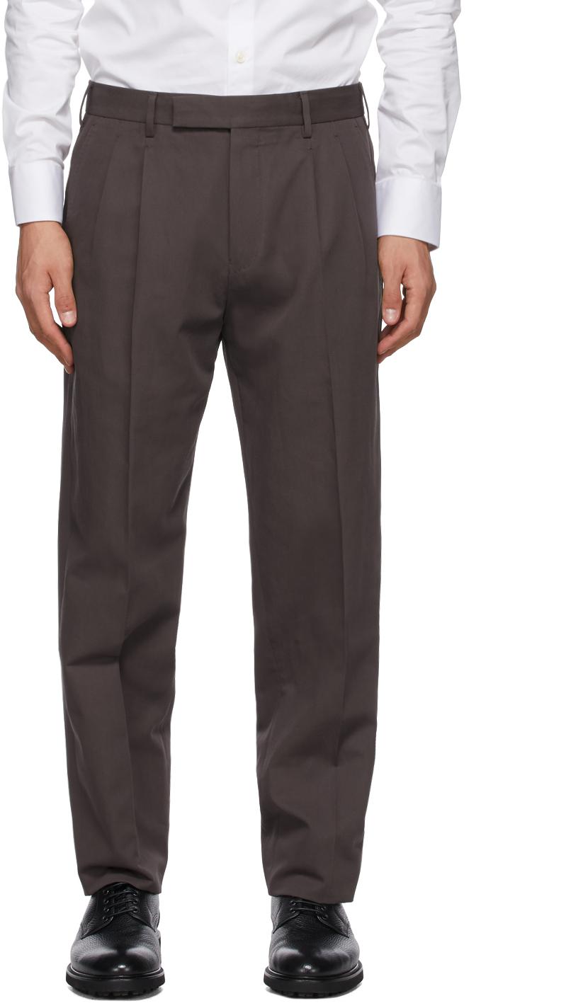Ermenegildo Zegna 棕色锥形长裤