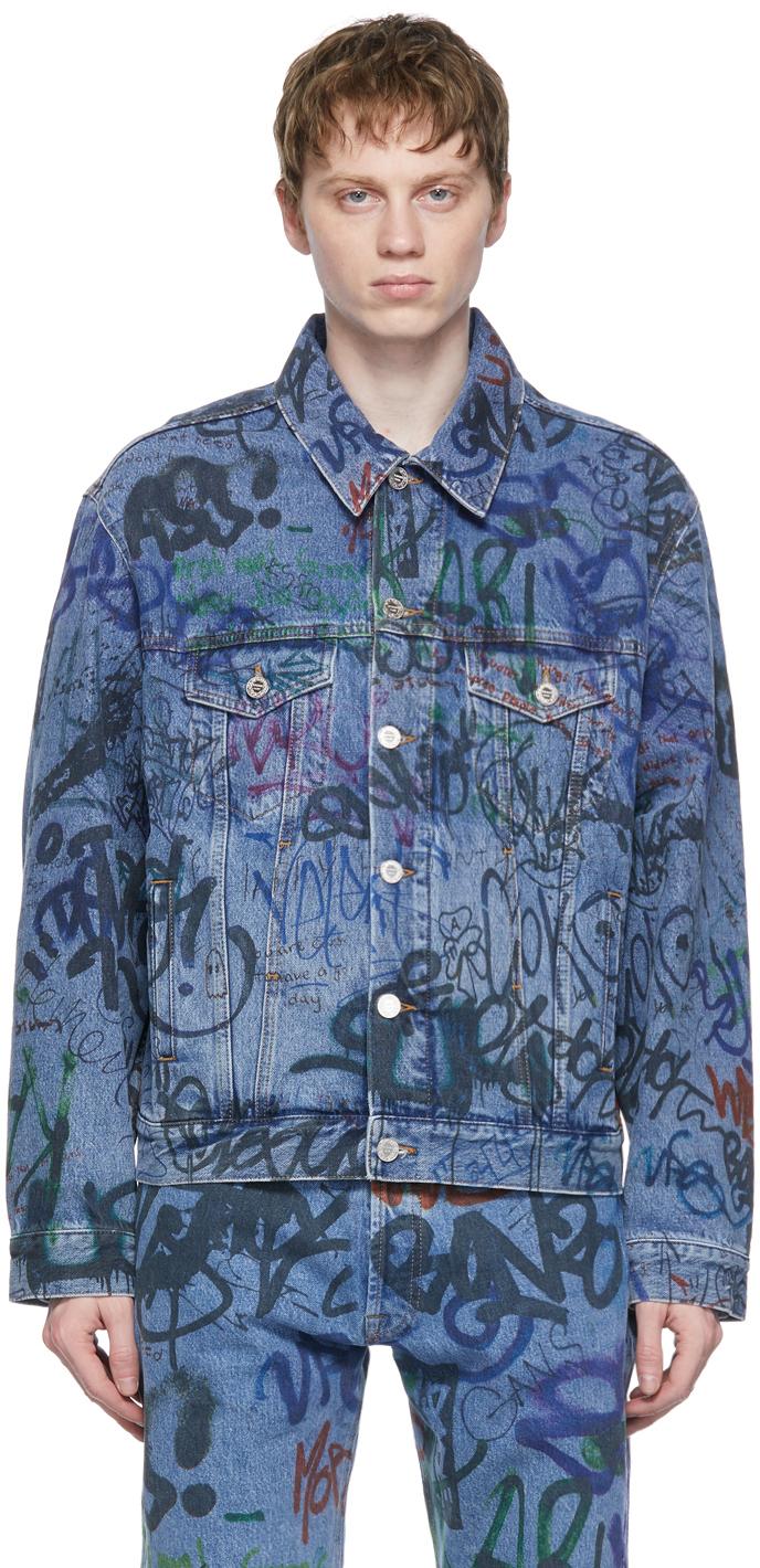 VETEMENTS 蓝色 Graffiti 牛仔夹克