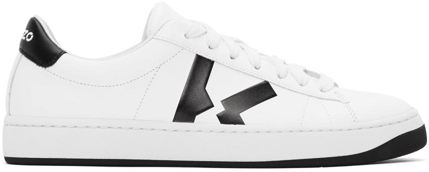 Kenzo 白色 K-Logo Kourt 运动鞋