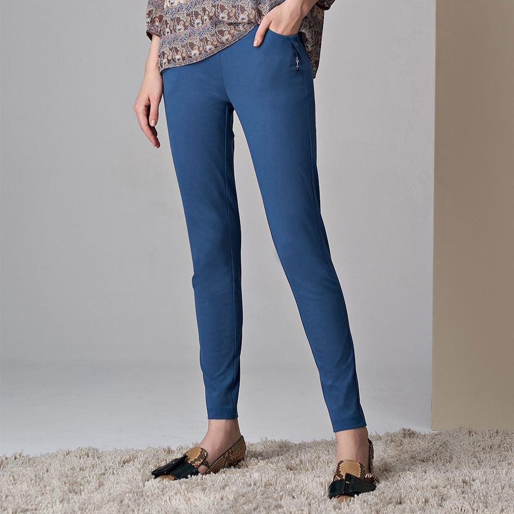 ILEY伊蕾 亮麗修身彈性窄管褲(藍)051676