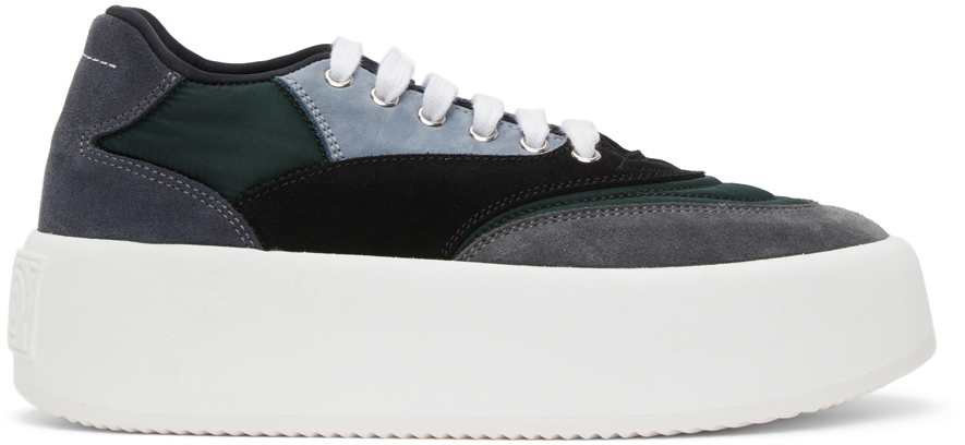 MM6 Maison Margiela 黑色 & 灰色 Flatform 运动鞋