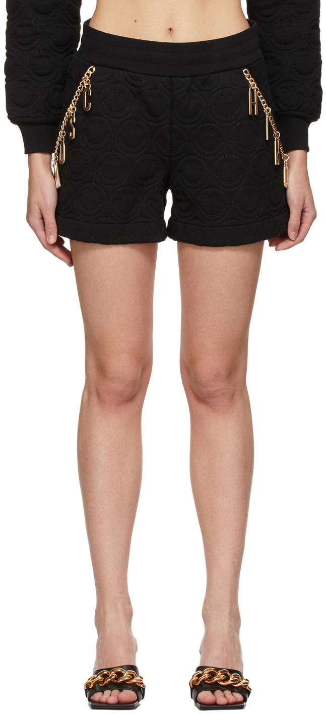 Moschino 黑色 Smiley© 联名 Charm 短裤