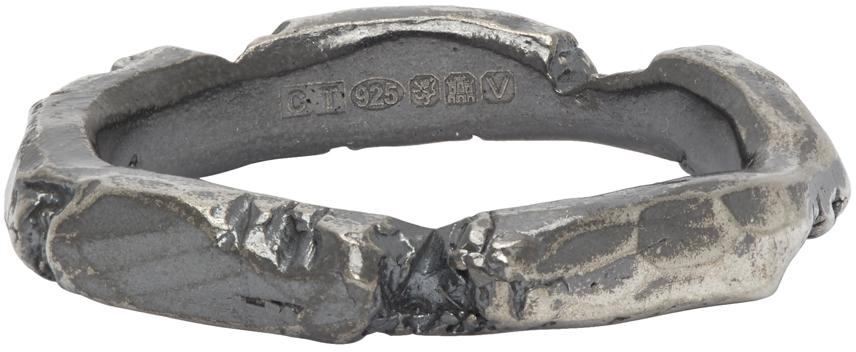 Chin Teo SSENSE 独家发售银色 Wound 戒指