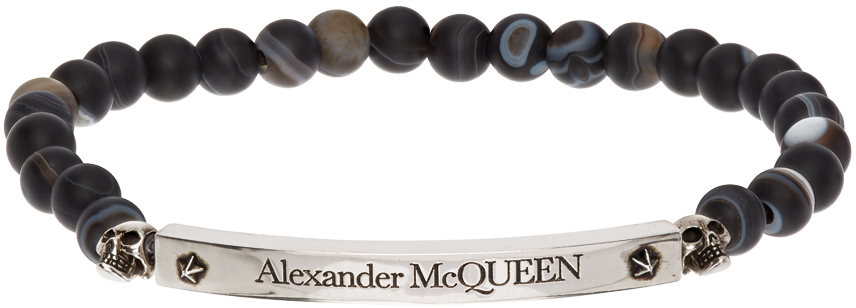 Alexander McQueen 黑色缟玛瑙手链
