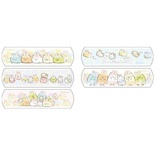 小禮堂 角落生物 日製 OK繃 附夾鏈袋 貼布 繃帶 絆創貼 10枚入 (黃 復活節)