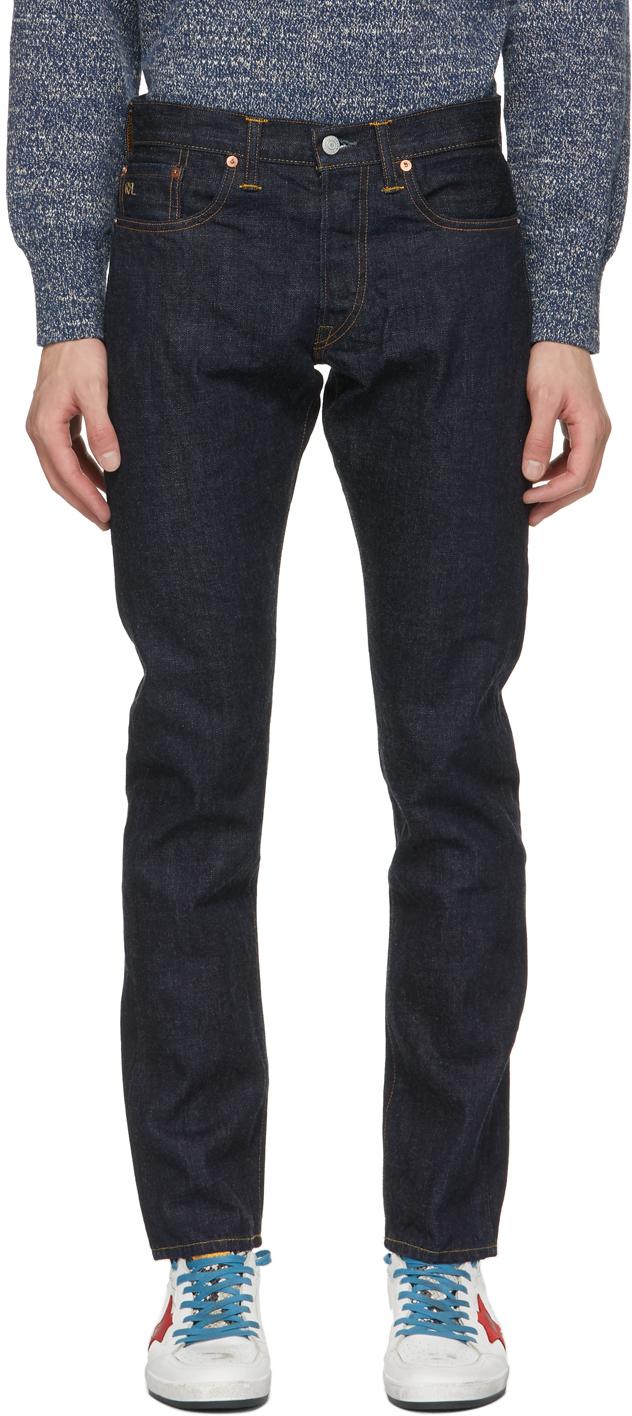 RRL 靛蓝色修身牛仔裤