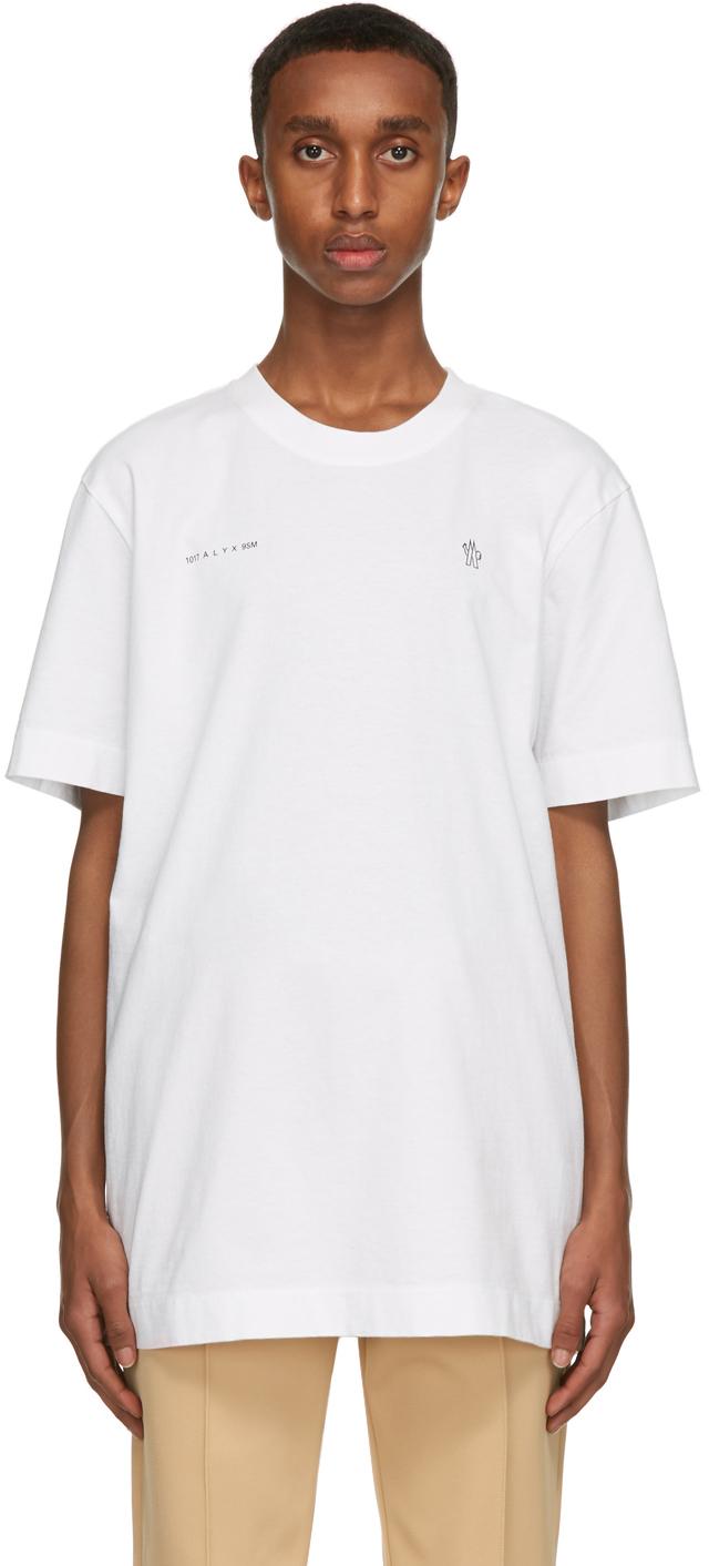 Moncler Genius 白色 6 Moncler 1017 ALYX 9SM 系列徽标 T 恤