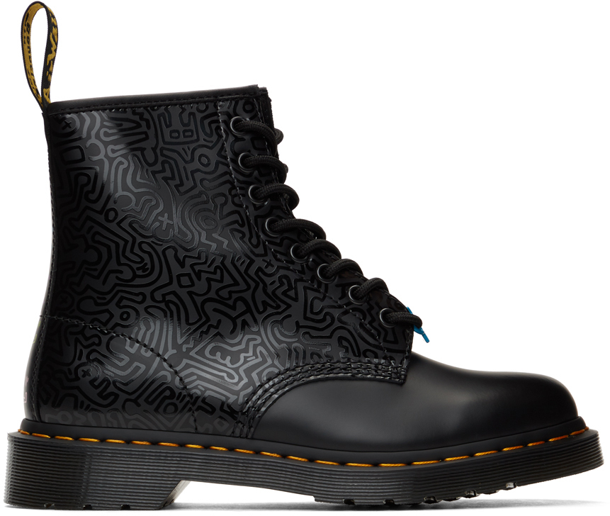 Dr. Martens 黑色 Keith Haring 联名 1460 踝靴