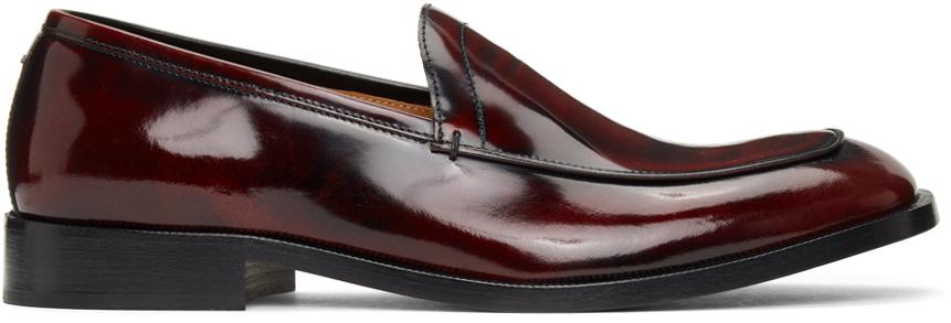 Maison Margiela 酒红色 Tabi Sole 乐福鞋