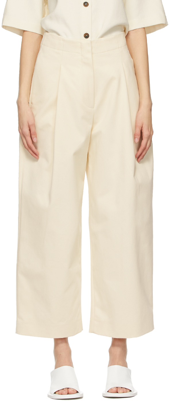 Studio Nicholson 灰白色 Dordoni 长裤