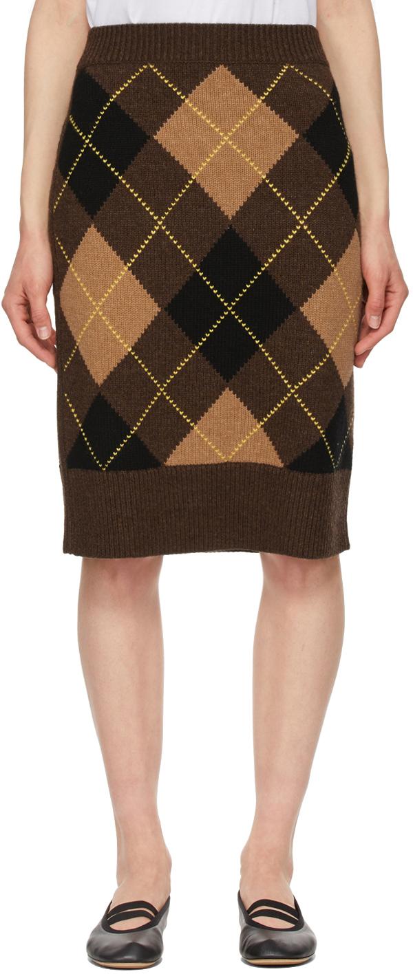Burberry 棕色 Argyle 半身裙
