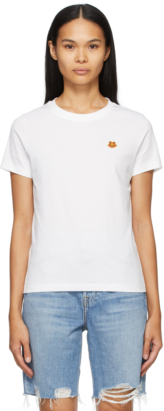 Kenzo 白色 Tiger Crest T 恤
