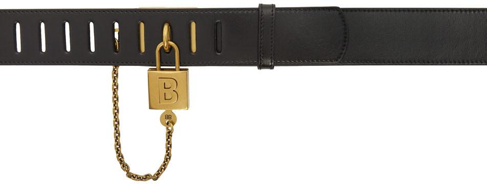 Balenciaga 黑色 Locker 腰带