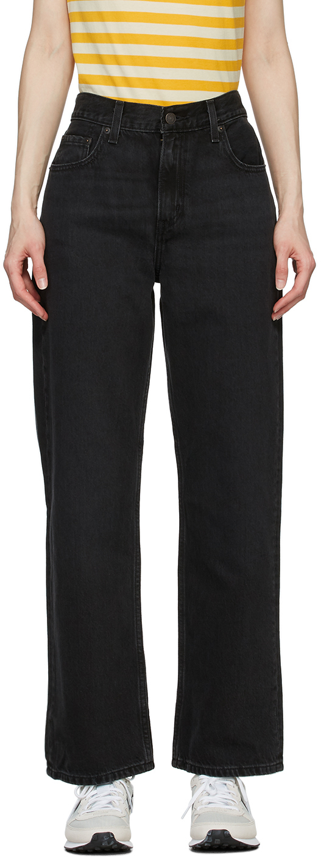 Levi's 黑色 Loose Straight 牛仔裤
