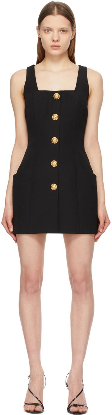 Balmain 黑色 Button 羊毛连衣裙
