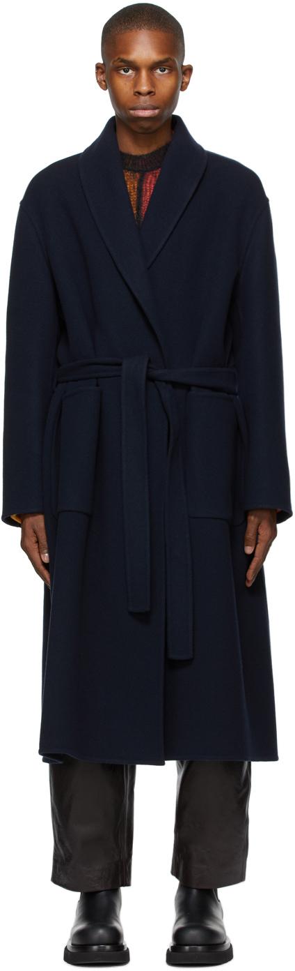 Loewe 海军蓝束带大衣