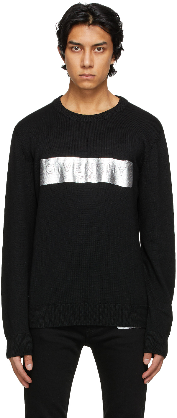 Givenchy 黑色羊毛徽标毛衣