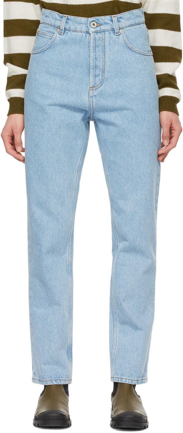 Loewe 蓝色锥形牛仔裤