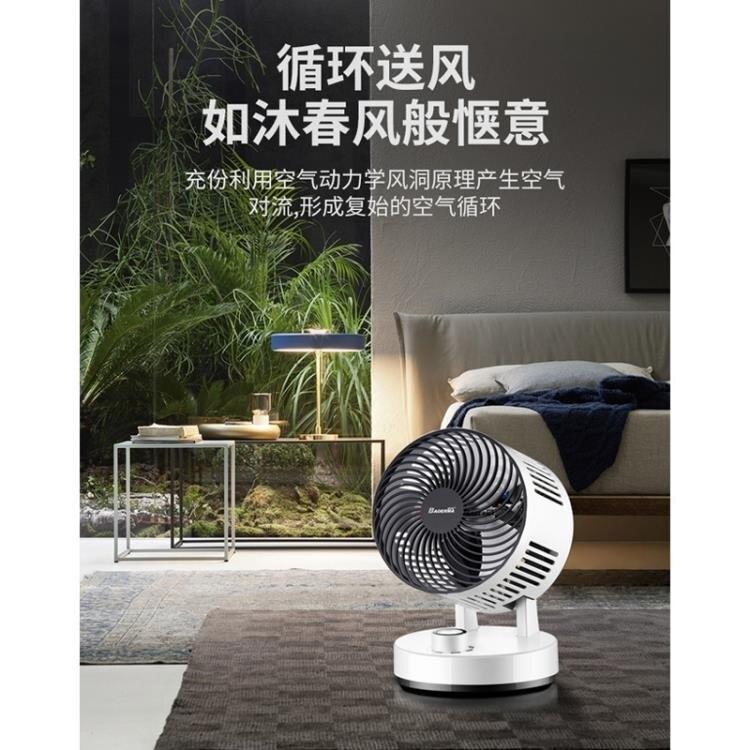 循環扇家用電風扇渦輪空氣對流扇立體搖頭學生靜音台式電扇