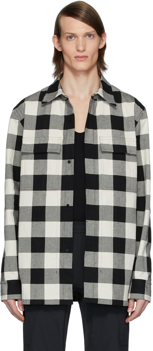 Bottega Veneta 黑色 & 白色格纹夹克衬衫