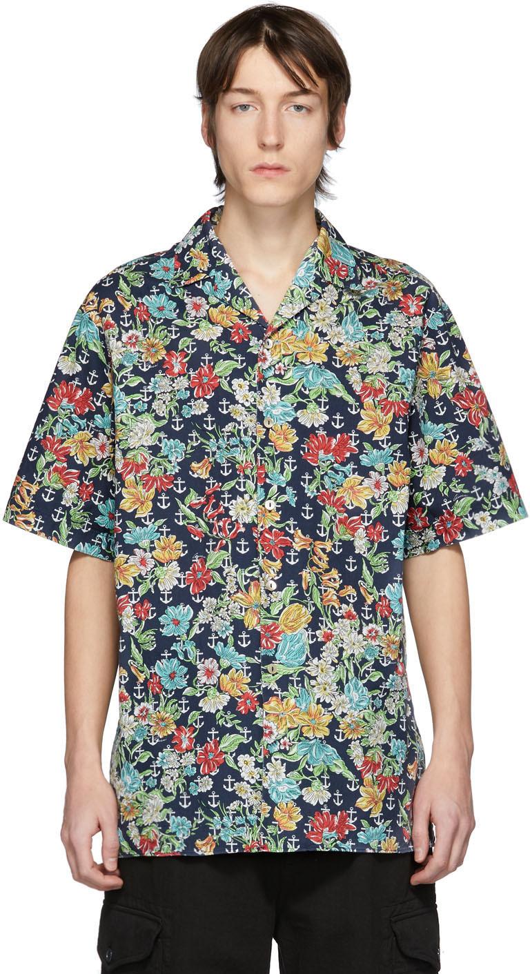 Gucci 多色 Anchors 夏威夷衬衫