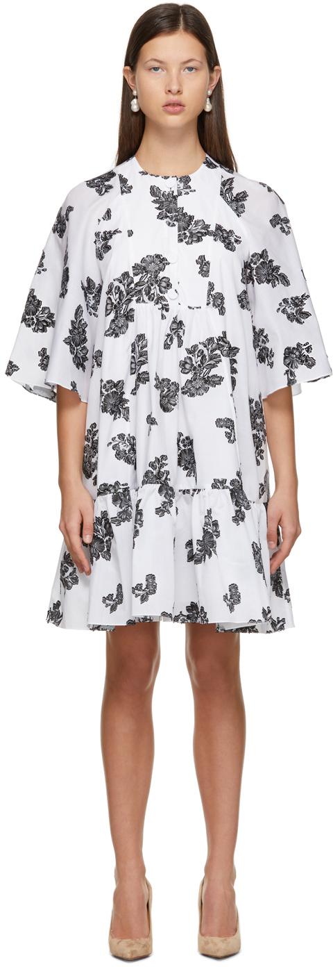 Erdem 白色 Edison 剪线连衣裙
