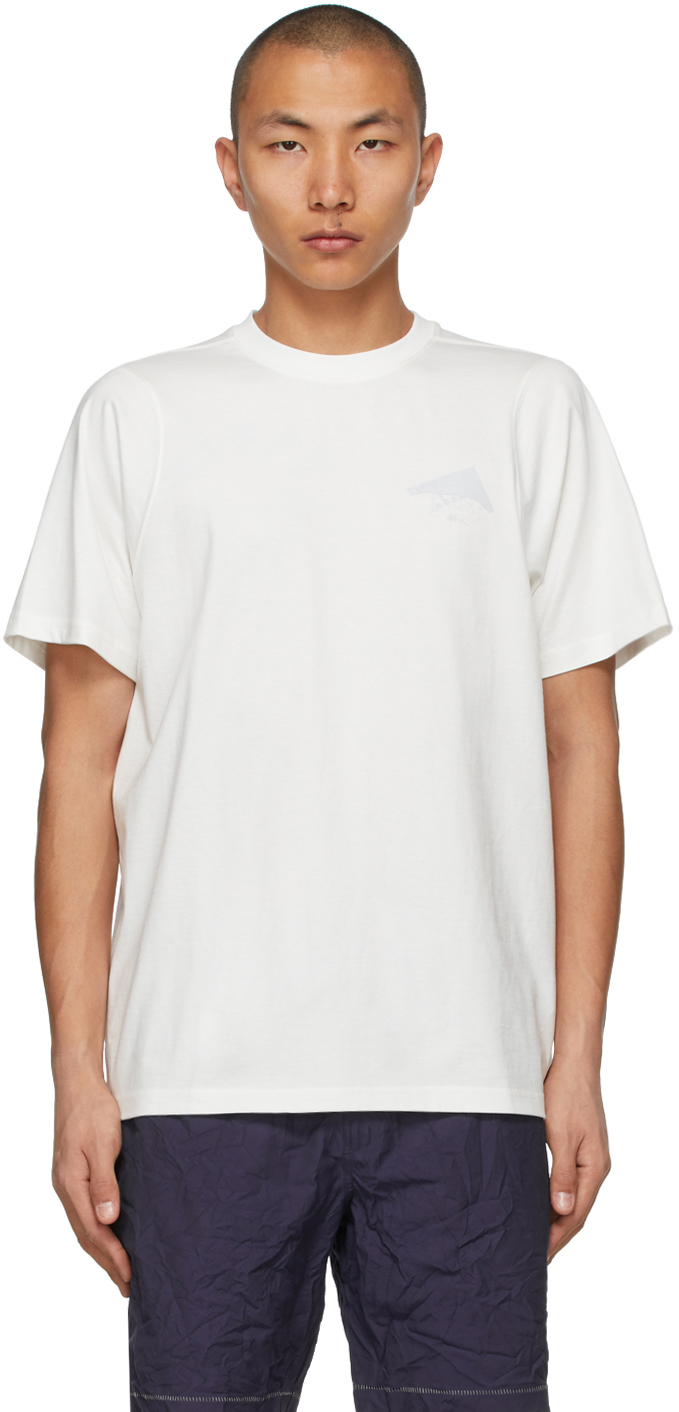 ADER error 白色复合徽标 T 恤