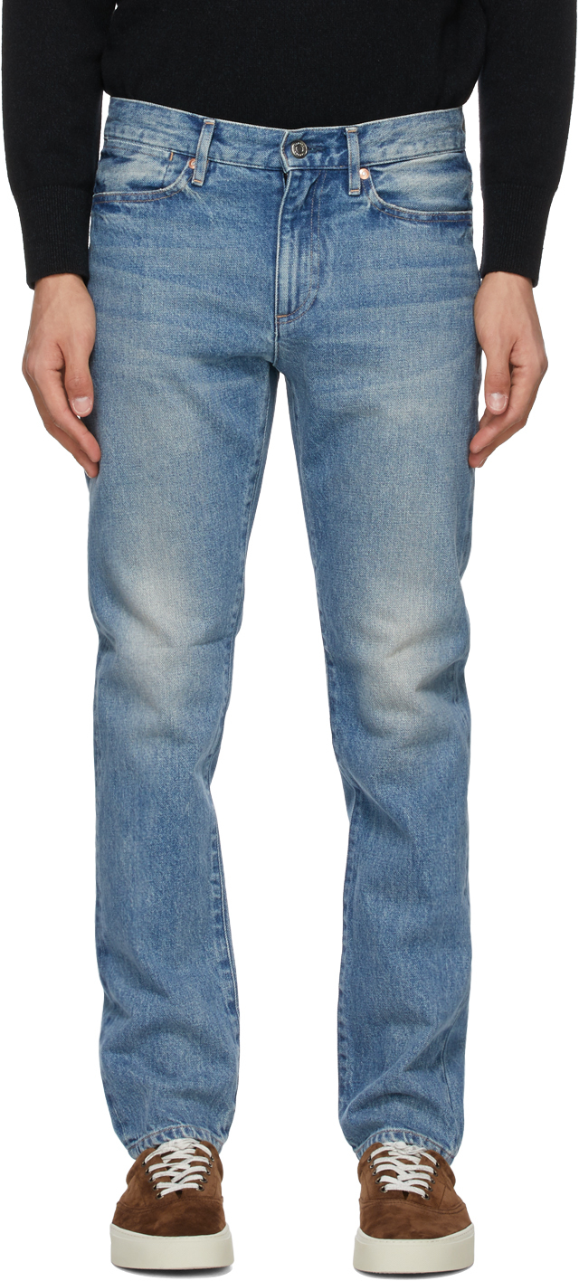 Tanaka 蓝色 Brother 牛仔裤