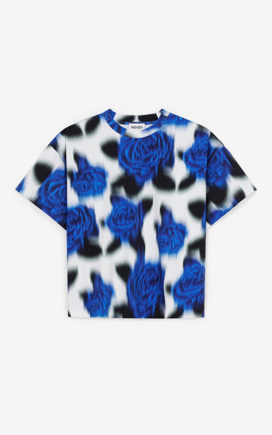 KENZO T-shirt loose 'Roses'