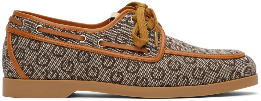 Gucci 棕色 G 帆船鞋