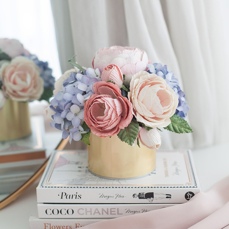 粉色和藍色-芳綸紙管盒