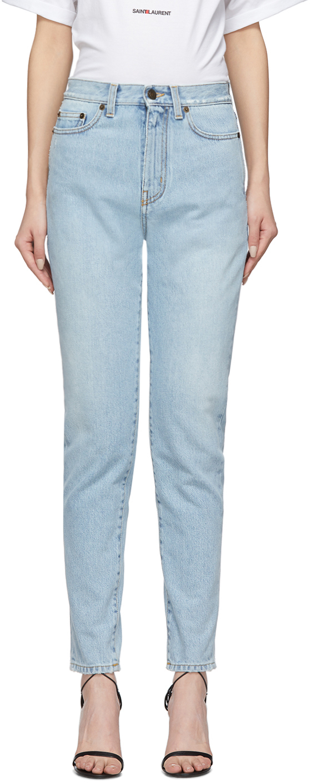 Saint Laurent 蓝色锥形牛仔裤