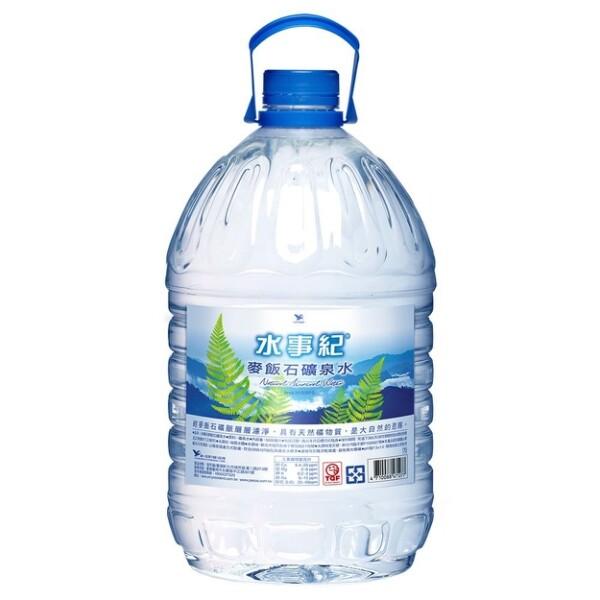 統一水事紀麥飯石礦泉水5l*2桶/箱