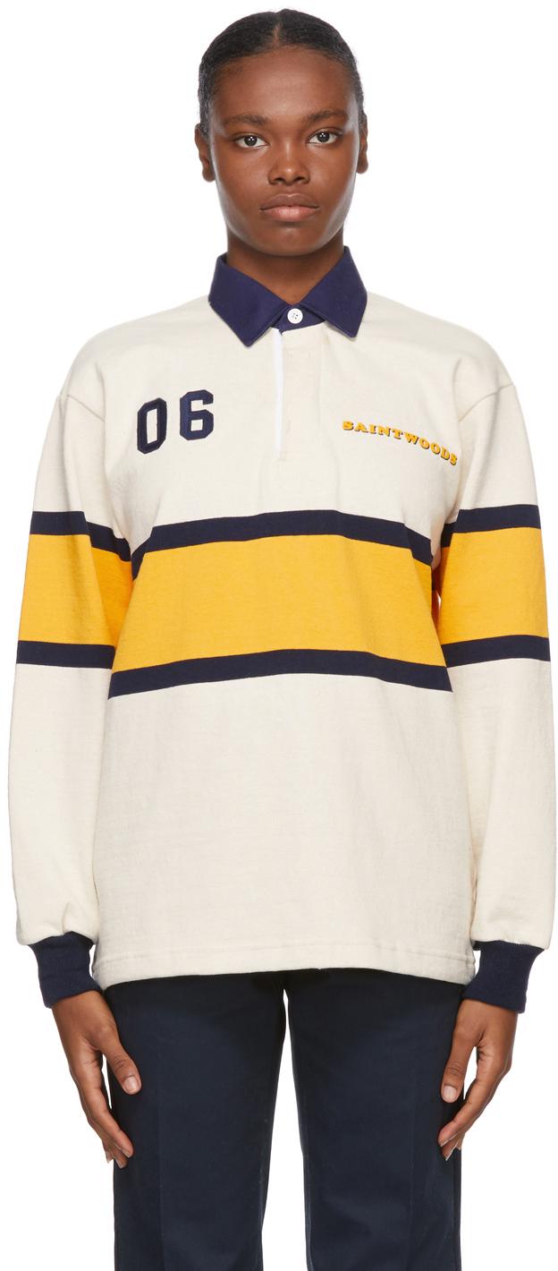 Saintwoods 米色橄榄球 Polo 衫