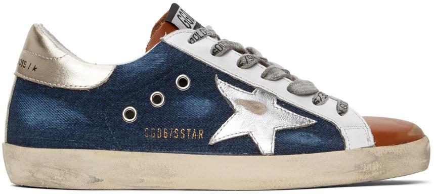 Golden Goose 蓝色 Superstar 丹宁运动鞋