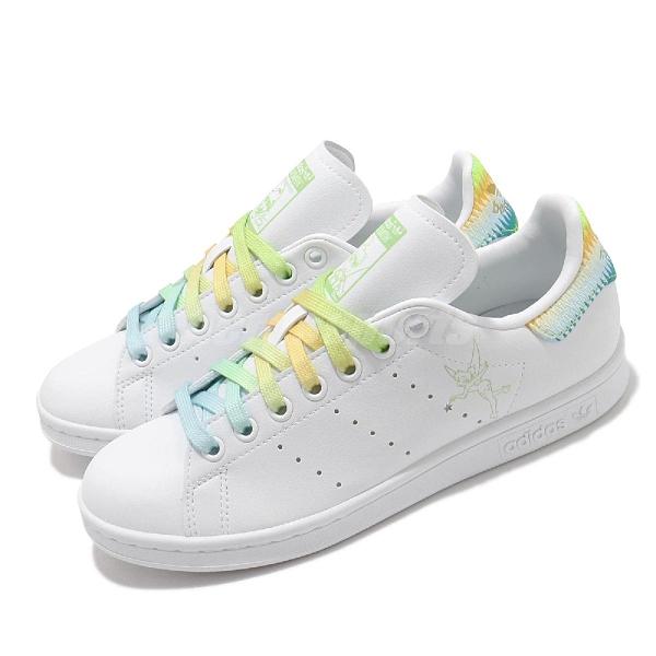 adidas 休閒鞋 Stan Smith W 白 綠 彩色 漸層 奇妙仙子 小白鞋 女鞋 三葉草 環保【ACS】 FZ2714