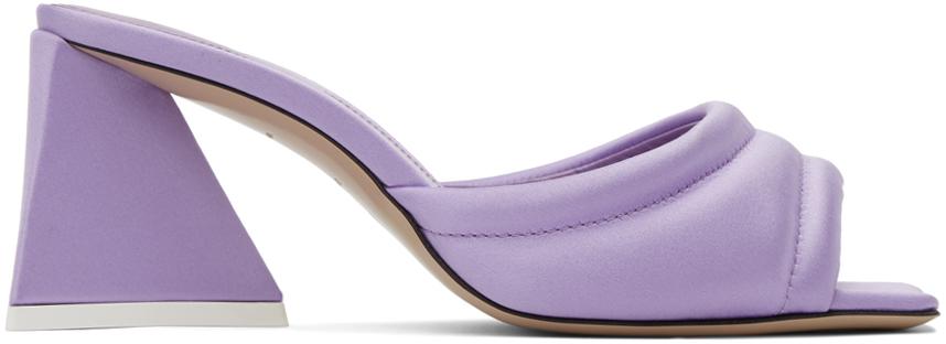 The Attico 紫色 Devon 穆勒鞋