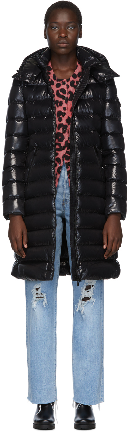Moncler 黑色 Moka 羽绒大衣