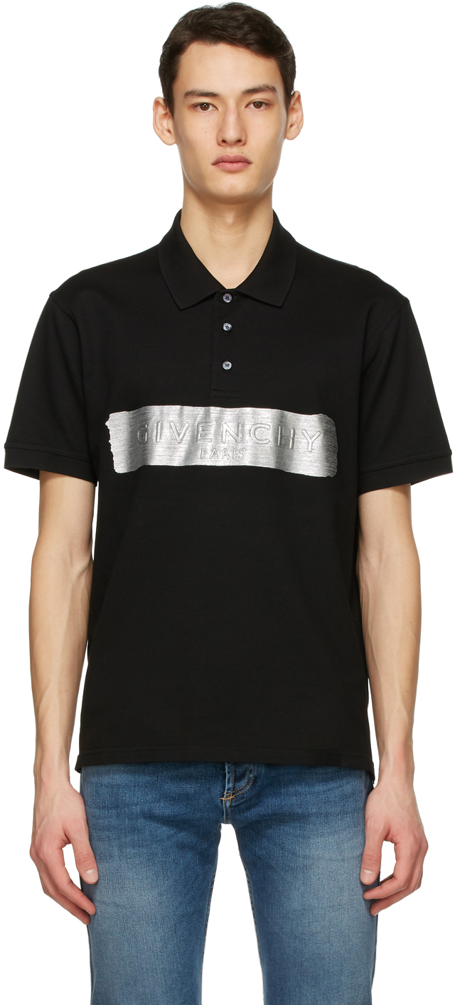 Givenchy 黑色徽标 Polo 衫