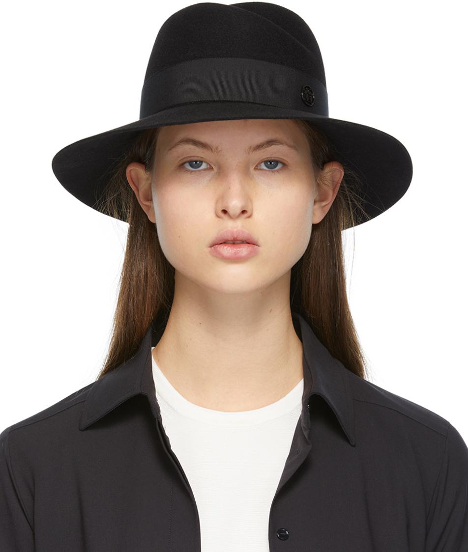 Maison Michel 黑色 Virginie 毡制宽檐帽