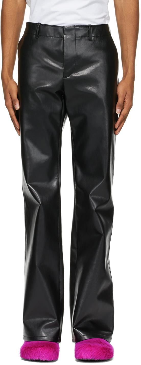 Marni 黑色 70s-Style 合成皮革长裤